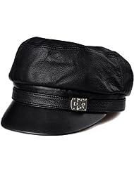 BBDM Señoras de piel de moda casual gorras planas sombrero