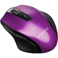 AmazonBasics Souris sans fil ergonomique - DPI réglables - Violet