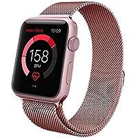Correa Apple Watch 38mm Milanese Pulsera iWatch de Acero Inoxidable, IvyLife Correa Milanese Loop de Reemplazo Brazalete iWatch con Cerradura Imán Único para Apple Watch Series 1 / 2 / 3 , Oro Rosa