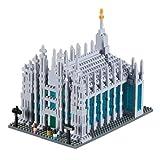 Brixies 410150 - Duomo di Milano, 3D-Puzzle, Italy Edition, 1200 Teile, Schwierigkeitsstufe 4 für Experten, Mehrfarbig