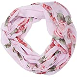 ManuMar Loop-Schal für Damen | Hals-Tuch mit Rosen-Motiv als perfektes Sommer-Accessoire | Schlauch-Schal - Das ideale Geschenk für Frauen