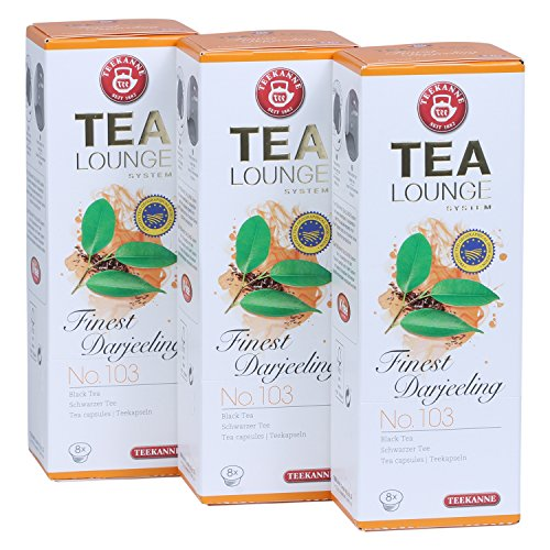 Teekanne Tealounge Kapseln- Finest Darjeeling No. 103 Schwarzer Tee (3×8 Kapseln)