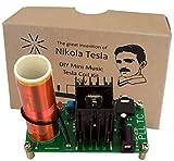 AUMED Mini Musique Bobine Tesla Plasma Haut-Parleur Transmission sans Fil Kit DIY Vintage ECO