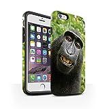 Stuff4 Coque Matte Robuste Antichoc de Coque pour Apple iPhone 6 / Selfie Babouin Design/Animal Drôle Meme Collection