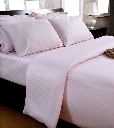 Homescapes Damast Kopfkissenbezug 40 x 80 cm 100% reine ägyptische Baumwolle Kissenbezug Fadenzahl 330 rosa