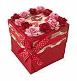 Crack of Dawn Crafts-3 Layered Romantic Explosion Box - Hot Lips