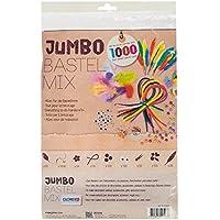 GLOREX Jumbo Bastel Mix SB-Beutel, Fliz, Bunt, 30 x 21 x 3 cm, 1000 -Einheiten