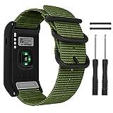 MoKo für Garmin Vivoactive HR Armband, NATO Nylon Uhrenarmband Ersatzarmband Handgelenk Band Strap für Garmin Vivoactive HR, Armbandlänge 6.5