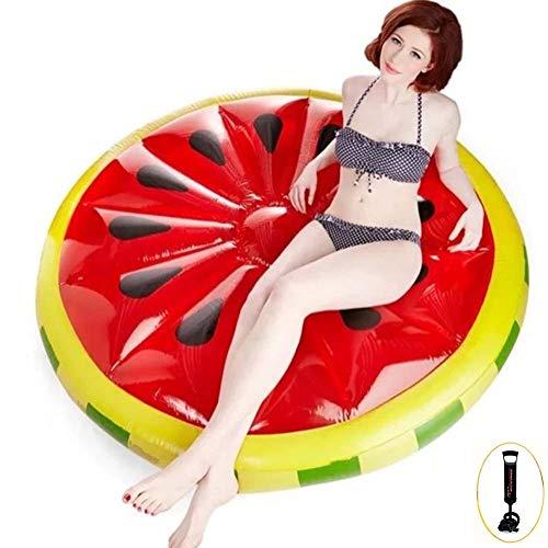 Thole Wassermelone Wasser Erwachsenes HäNgematte Schwimmende Reihe Pool Lounge Stuhl Luftmatratze Pool Float Wassersofa Pool Floß,red