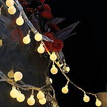 Foonii Strisce di Luci LED, 100 Singoli LED, 10 Metri, Luce Calda Bianca, 8 Stili di Illuminazione, Decorazione per anche per Festa, Matrimonio, Giardino, Natale, Halloween, ecc