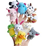 Happy Cherry - Lot de 10 Marionnette à Doigt en Forme D'animaux - Marionnette à Doigt Mignon pour Bébé Enfant