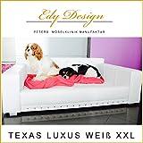 Cani divano Texas lusso ecopelle bianco XXL cani letto Edy Design