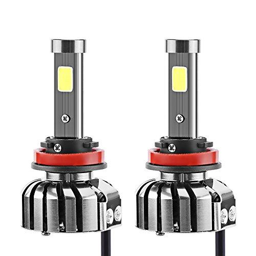 Preisvergleich Produktbild Qiilu Super Helle 8000lm Auto N7 LED Scheinwerfer H8 / H9 / H11 COB Vorne Lampen DRL Nebelscheinwerfer