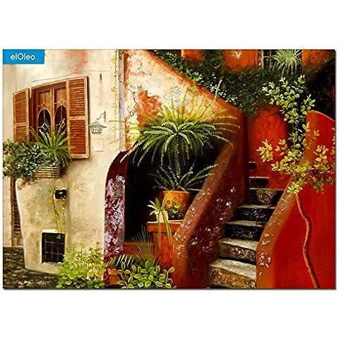 elOleo 86676A pittura olio Piazza Terracotta -