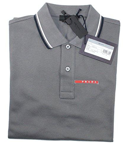 Prada Herren Poloshirts T-Shirt Medium Gr. Medium, Grau (Prada Herren Shirt)