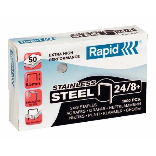Rapid 24858300 Heftklammern 24/8mm Super Strong, rostfrei, 1000 Stück