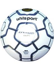 Uhlsport TCPS Equipe - Balón de fútbol blanco weiß/schwarz/silber Talla:5