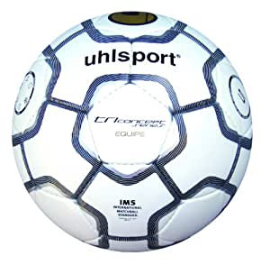 Uhlsport TCPS Equipe, Pallone da calcio, Bianco/Nero/Argento, 4