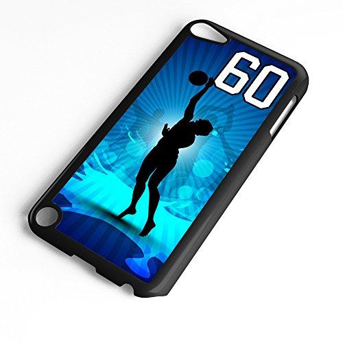 TYD Designs Schutzhülle für iPod Touch 6. Generation / 5. Generation, Basketball #3000, aus Kunststoff, Schwarz, Number 60, schwarz
