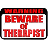 """graphique et plus """"avertissement Attention au Thérapeute"""" 22.9x 15.2cm plaque en métal Tableau"""