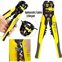 Safekom cortador de alambre eléctrico resistente pelacables herramienta de corte automático de trinquete terminales cable Crimper