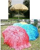 Raffia Hawaii Hawaiian Grass Garden Parasol Umbrella