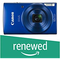 (Renewed) Canon 1800C001 IXUS 20MP Digital SLR Camera (Blue) with 10x Optical Zoom, Memory Card and Camera Case