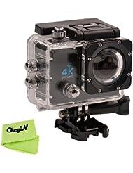 CkeyiN &#174 ; WIFI Cámaras Deportivas, 4K Ultra HD DV Impermeable con 2.0 LTPS LCD de Pantalla (Negro)