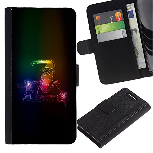 For Sony Xperia Z1 Compact / Z1 Mini / D5503,S-type® Santa Claus Neon Winter Christmas (Sleigh Pocket)