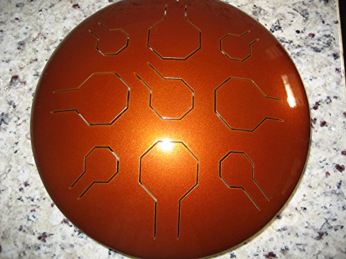 Edelstahl Double VibeDrum – Elemental Earth - 18 Notes - P - Tuned & Ready to Ship - See Scale info in Details - Handpan, Steel Tongue Drum