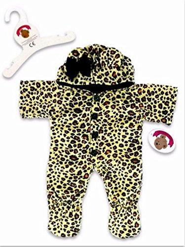 Leopard Teddies (Baue Dein Bears Kleiderschrank 15Zoll Kleider passen Bj Bär Leopard Einteiler)