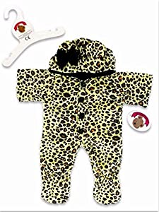 ToyCentre Leopard Onesie Outfit Teddy Bear Clothes Fits 15-16in Build a Bear Teddies