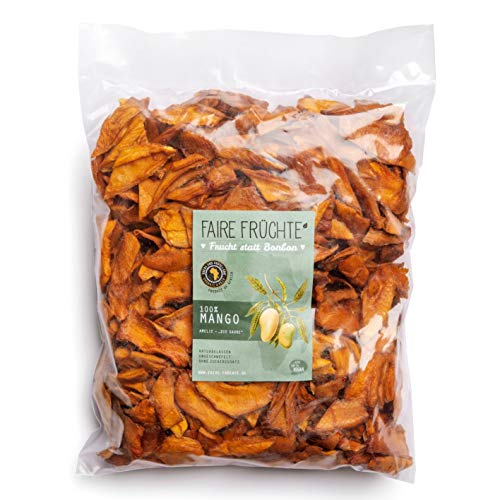 100%Mango getrocknet, Amelie *sauer*, 1kg: OHNE Zucker**OHNE Schwefel >FAIR TRADE< 100%Natur & unbehandelt *bissfest*fruchtig*lecker* v. Kleinbauern aus Afrika, Burkina Faso