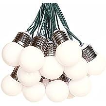 Solar guirnalda de luces con 15 Bombillas Blanco Cálido para al aire libre, jardín, árbol de Navidad, fiesta, boda decoración