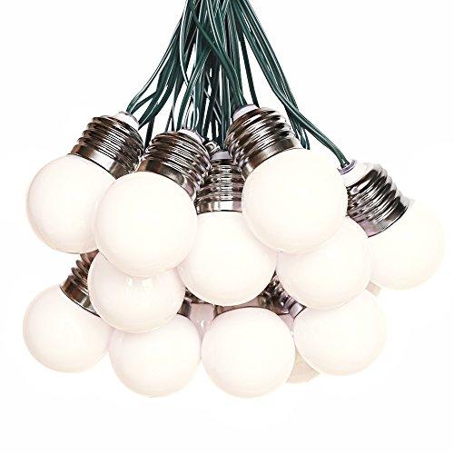 solar Lichterkette mit 15 Leuchtmittel Warmweiß für außen draußen, Party, Weihnachten, zur Dekoration