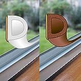 easy life Fenster-Dichtung 48 Meter selbstklebende Gummi-Dichtung für Fenster/Türen verschiedene Profile aus EPDM-Gummi, Farbe:Braun, Profil:D-Profil