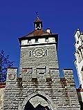 Artland Qualitätsbilder I Wandbilder Selbstklebende Wandfolie 60 x 80 cm Architektur Gebäude Sehenswürdigkeiten Foto Grau C7JK Schnetztor in Konstanz
