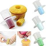 Lot de 2 évideurs pour cupcake, muffin - Outils de décoration pour gâteaux - Ustensiles de cuisine, gadgets - Couleur aléatoi