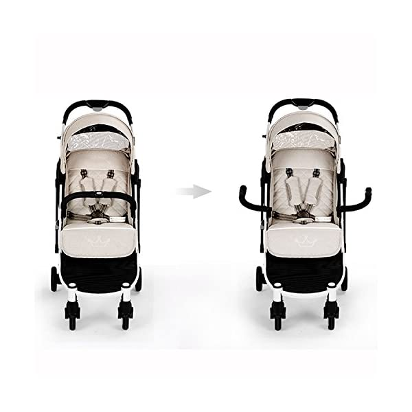 Allis Lightweight Baby Pram Pushchair Buggy Travel Stroller Plume - Beige  Made according to British Standard EN1888, Fabrick OKo-Tex standard 100 and Fire Safety Regulations 1988. Lockable 360 swivel wheels, removable and suspension Lightweight 5.8Kg only, Easy to fold with one hand only 3