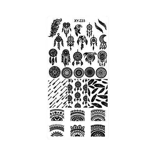 G-wukeer Nail Art Stamping, Weihnachten Nail Art Maniküre Stamping Platte - Fühlen Sie sich lebendig Nail Art Template Stamping Platte für Nagel Druckwerkzeuge