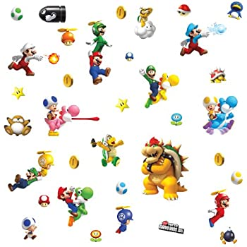 RoomMates Repositionable Childrens Wall Stickers Nintendo Super Mario Bros  Nintendo Wii Part 92