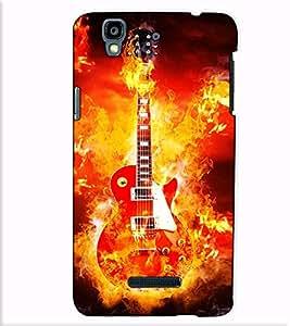 Fuson Designer Back Case Cover for YU Yureka :: YU Yureka AO5510 (The burning guitar theme)