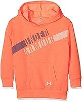 Under Armour Girls' Favorite Fleece Hoody Warm-up Top, London Orange Light, Youth/X-Large