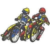 Speedway Aufkleber Doppelfahrer groß Bahnsport Aufkleber innen