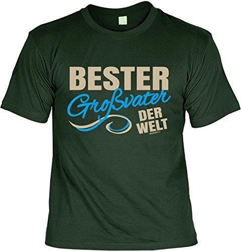 Geschenkidee Opa T-Shirt Bester Großvater der Welt Geschenk für Opa lustiges Shirt für Opa Vatertag Großvater Funshirt Dunkelgrün
