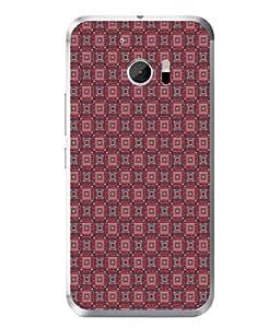 PrintVisa Designer Back Case Cover for HTC 10 :: HTC One M10 (Matty Box Design Texture Matefinish Check Dark Brown Round)