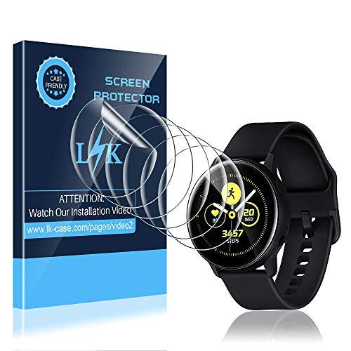 LK Protection Écran pour Samsung Galaxy Watch Active/Galaxy Watch Active 2 40mm [6 Pièces], Anti-Rayures HD Clair Doux TPU Film[Compatible avec Coque][sans Bulles] Film de Protection d'écran