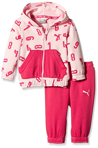 PUMA Baby Anzug Style Minicats Jogger, Crystal Rose/Aop/Rose Red, 74, 836780 36