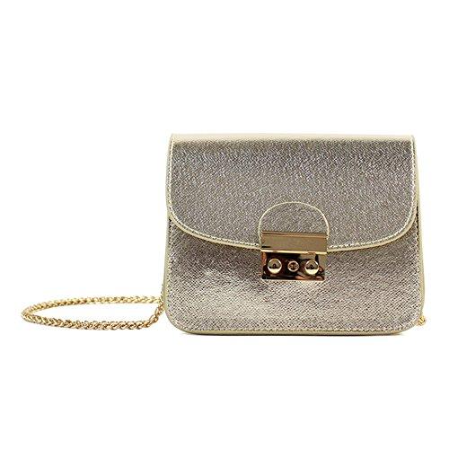 Canvas-Optik Luxus Clutch Mode elegante Damen Handtasche Leder-Optik Abendtasche Partytasche Handgelenktasche mit 3 Seitenfächern hochwertige Schultertasche Umhängtasche Damentasche (Gold) (Gold-leder-abendtasche)