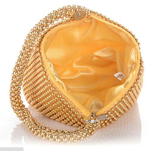 Geldbörse Handy Tragen Bling Strass Abendtaschen Party Dinner Taschen Lippenstift Kosmetiktasche Gold